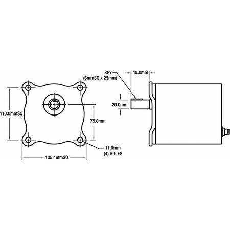 Bison AC Gearmotor, Inverter, RPM 24, Torque 277 017-260