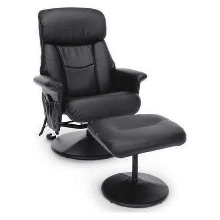 Ofm Inc Massaging Chair Heated Leather Recliner ESS