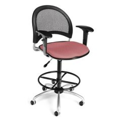 Pink Swivel Chair Hanging Outdoor Amazon Ofm Inc Moon Coral 336 Aa3 Dk 2208 Zoro Com
