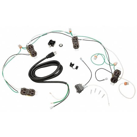 Tennsco Wiring Kit, Unassembled, For Workbenches WK-1