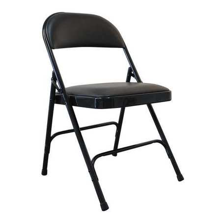 black padded folding chairs red velvet chair zoro select vinyl 300 lb 13v425 com