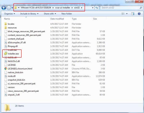 Install VCSA 6.5 - VCSA installer