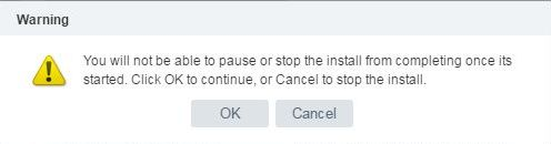 Install VCSA 6.5 - VCSA warning