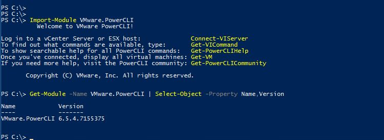 New Release - VMware PowerCLI 6 5 4 > CloudHat eu
