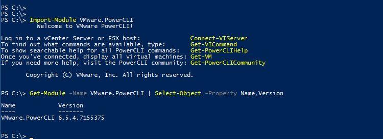 PowerCLI 6.5.4