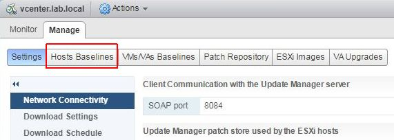 How to Update ESXi 6 5 with Update Manager > CloudHat eu