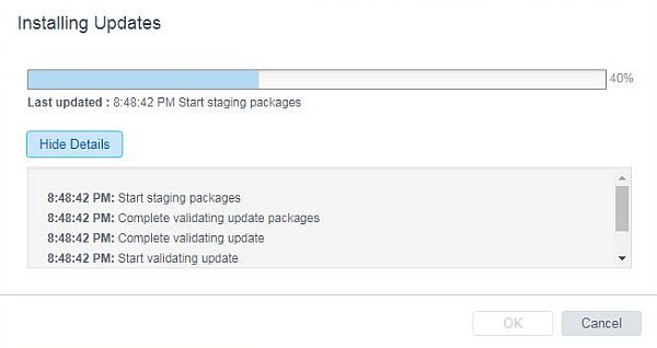 Update vCenter Server Appliance - Staging Packages