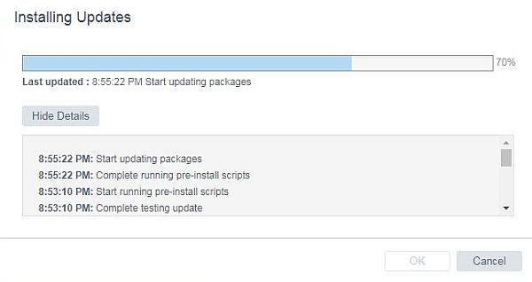 Update vCenter Server Appliance - Updating Packages