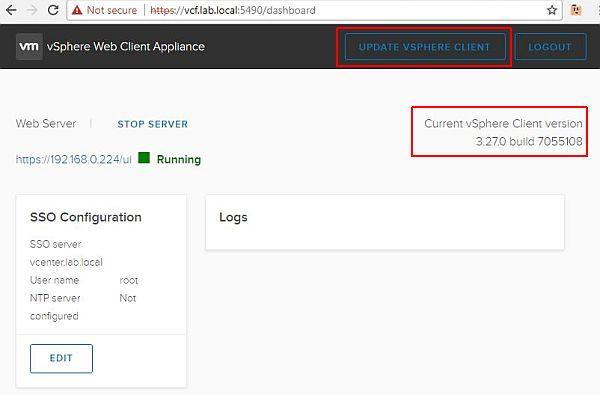 Update vSphere HTML5 Web Client Fling - Current