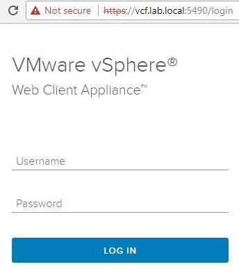 Update vSphere HTML5 Web Client Fling - Login