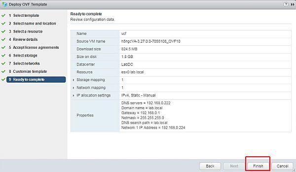 vSphere HTML5 Web Client Fling - Check