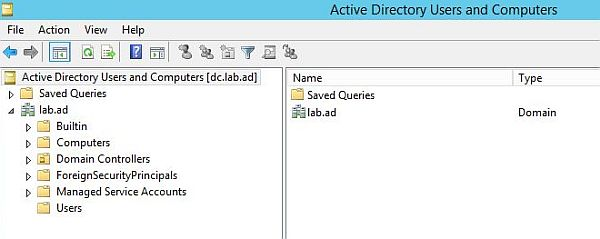 Install Active Directory - Active Directory Users and Computers