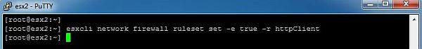 Update ESXi - Enable Firewall