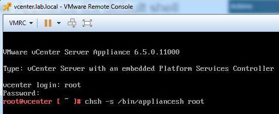 Update vCenter Server Appliance - SSH Connection