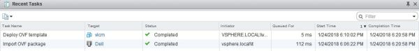 Install vRealize Suite Lifecycle Manager - Deploy OVF Template Task