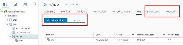 vSphere HTML5 Web Client Fling v3.32 - Tabs Improvements