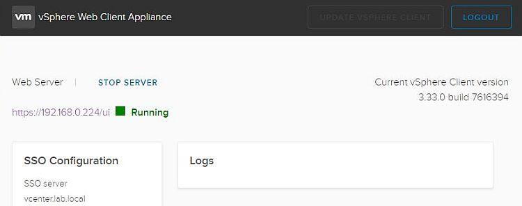 vSphere HTML5 Web Client Fling v3.33