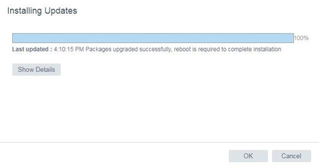 vCenter Server 6.5 U1f - Update Completed