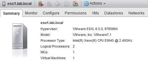 ESXi 6.5 build 6765664