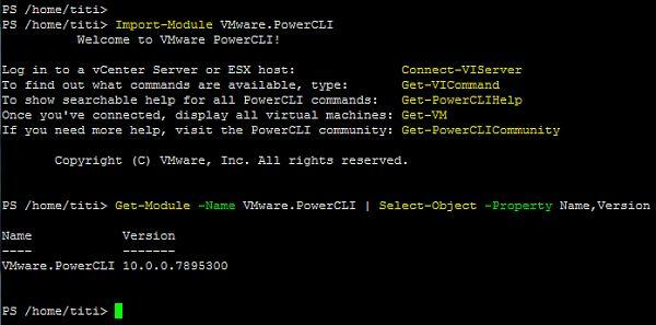 PowerCLI 10.0.0 Running on Ubuntu 16.04