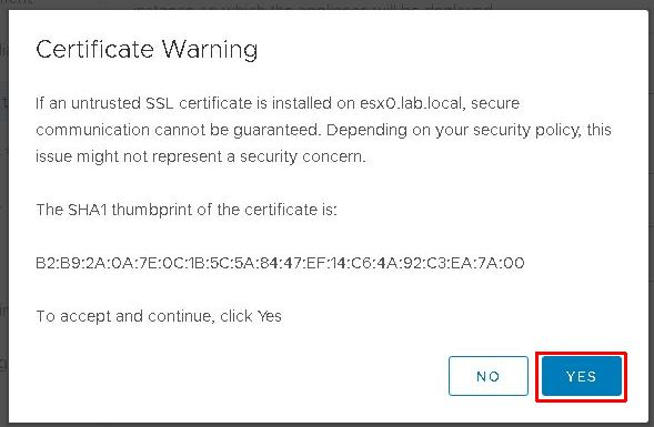 Upgrade vCenter Server Appliance from 6.5 to 6.7 - Certificate Warning