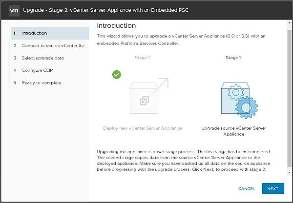 Upgrade vCenter Server Appliance from 6.5 to 6.7 - Introduction