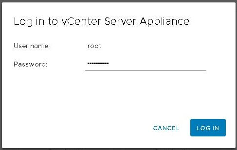 Upgrade vCenter Server Appliance from 6.5 to 6.7 - Login vCenter