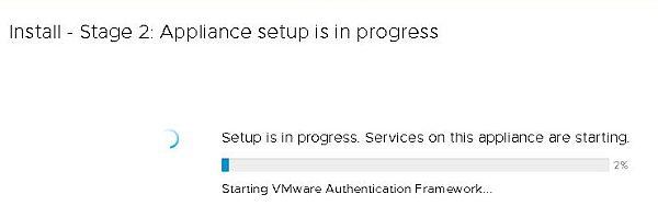 Installez VCSA 6.7 - Installez l'étape 2