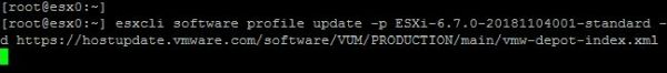Upgrade ESXi from 6.5 to 6.7 with Command Line - Run the Upgrade