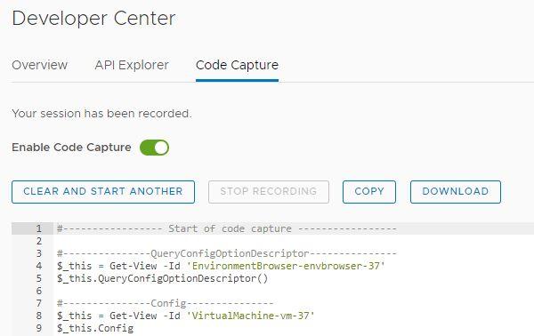 VMware vCenter Server 6.7 Update 2 - Code Capture