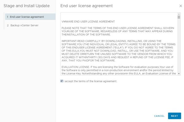 VMware vCenter Server 6.7 Update 2 - End User License Agreement