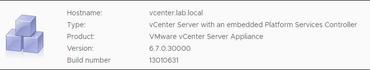VMware vCenter Server 6.7 Update 2