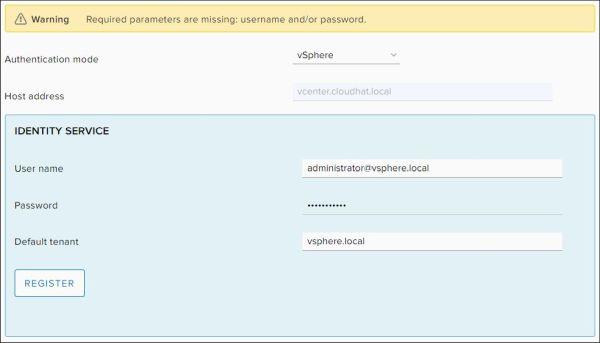 Configure vRealize Orchestrator - Identity Service Credentials