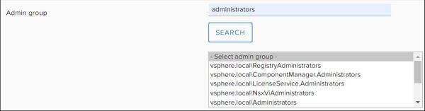 Configure vRealize Orchestrator - Select Admin Group
