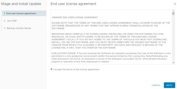 VMware vCenter Server 6.7 Update 3f - End User License Agreement