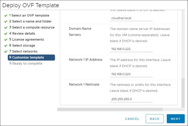 vRealize Orchestrator - Customize Template