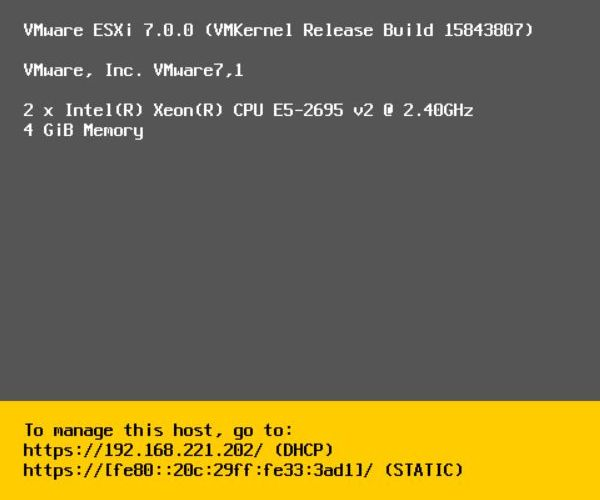 Install vSphere 7.0 - All Done