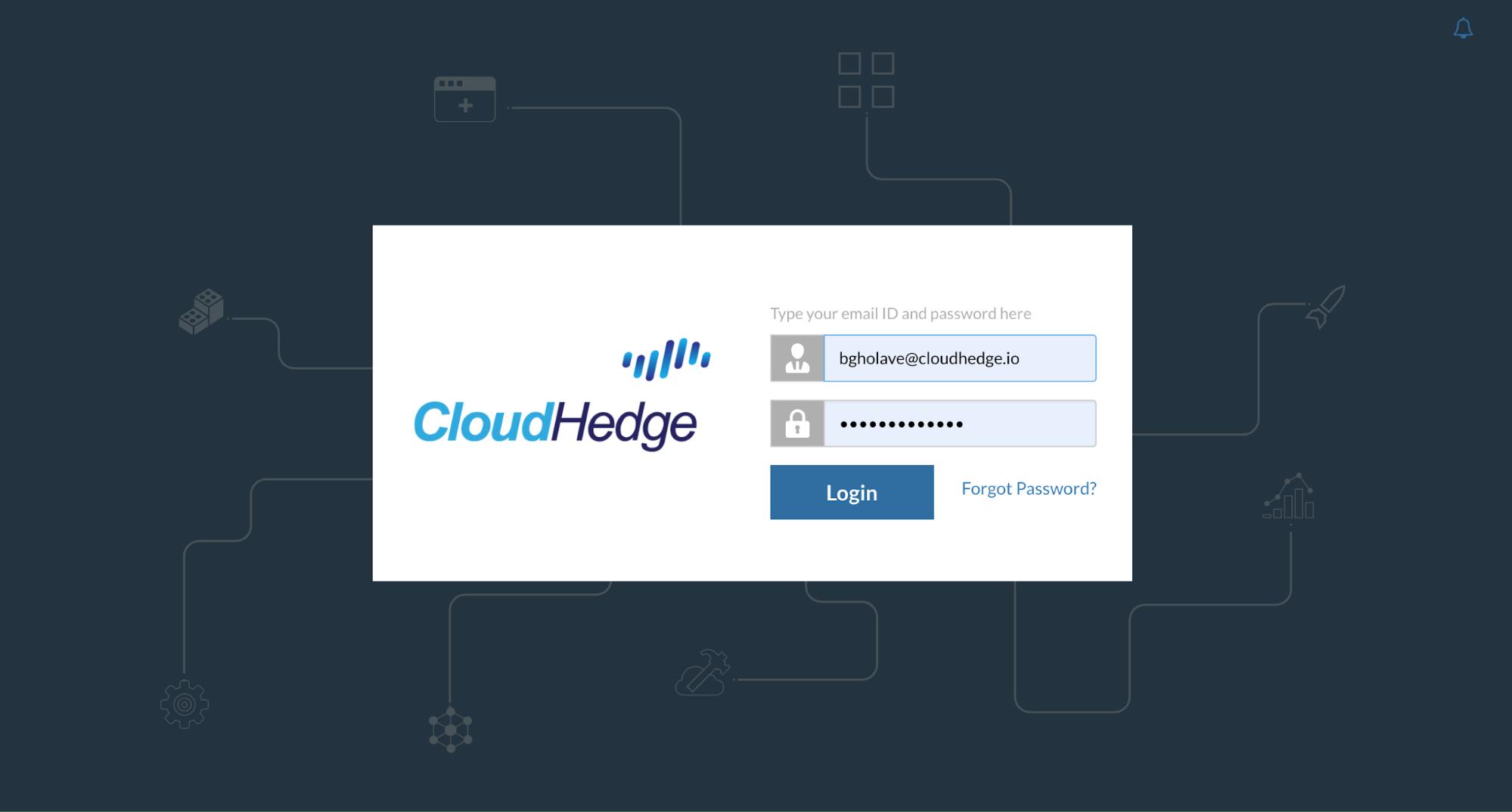 CloudHedge Login