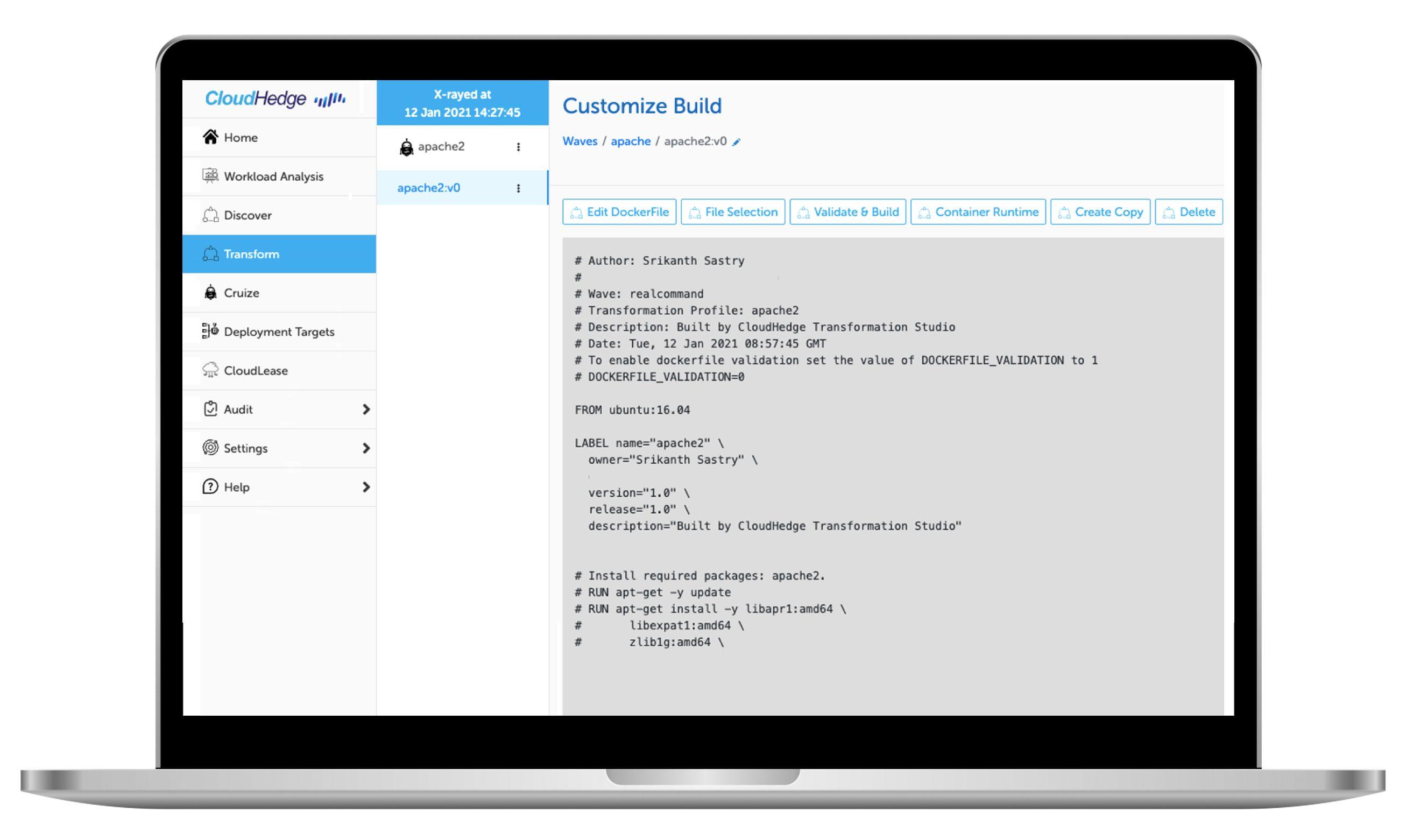 CloudHedge Customize Build
