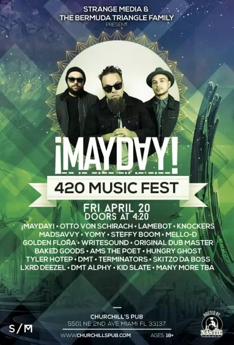 Family 420 2018 : family, Miami, Music, Festival, Featuring, ¡Mayday!,, Schirach,, Churchill's, Miami,, April