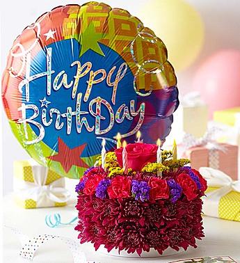 Birthday Flower Cake Purple Riverside Ca Florist