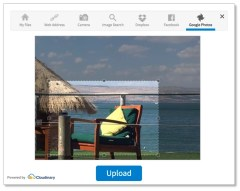 Upload widget - Connect to Facebook application for photo browsing