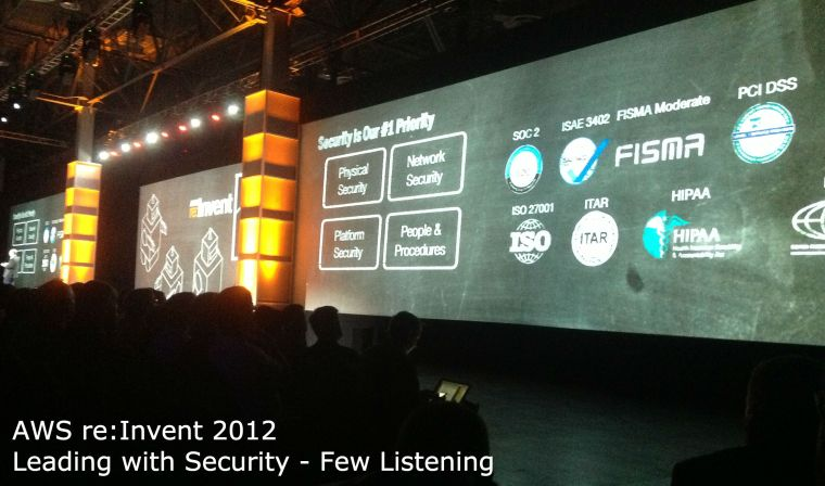 AWS re:Invent 2012 Leading with Security