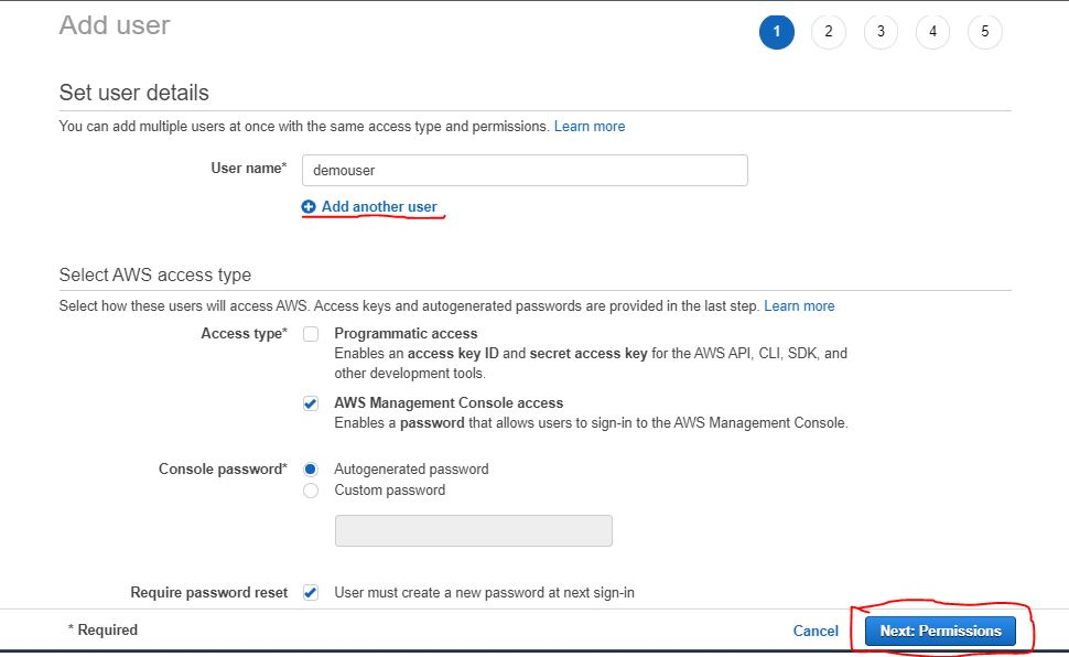 How to create an IAm user in aws step by step 4