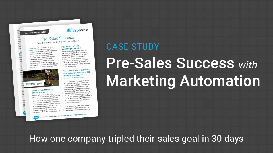 Spring Loaded Case Study: Pre Sales Success With Marketing Automation