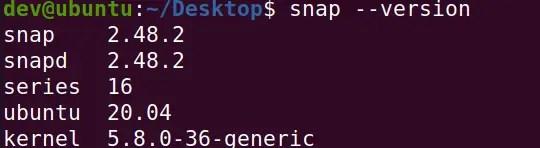 check-snap-version-ubuntu