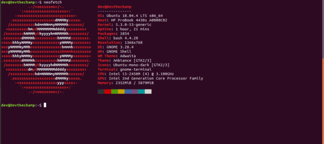 Neofetch-Ubuntu-version-check