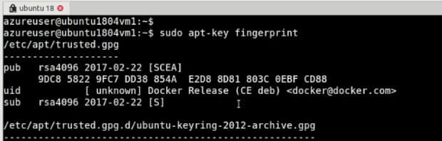 apt key docker fingerprint validation