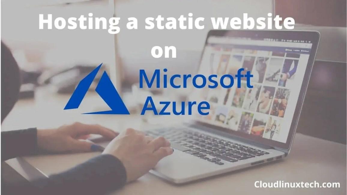 hosting-a-static-website-on-azure