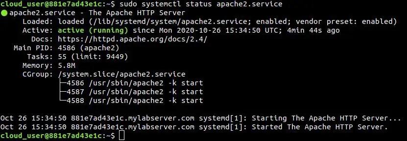 Check-apache-service-status